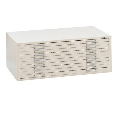 Mayline Group C-Files Ten-Drawer Flat File Filing Cabinet
