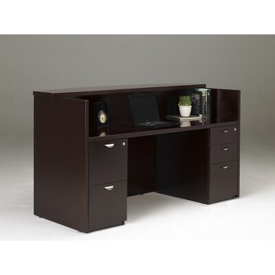 Mayline Group Mira Reception Station with 2 File Pedestals