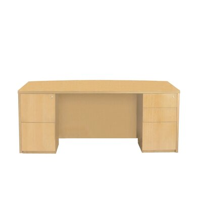 Mayline Group Luminary Double Pedestal Bow Front Desk