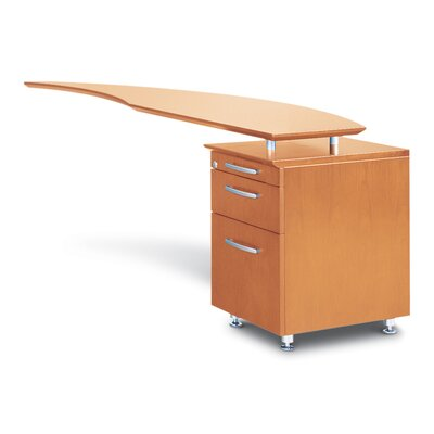 Mayline Group Napoli Series 3-Drawer Right Curved Desk Return