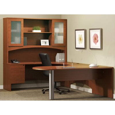 Mayline Group Brighton Series U-Shape Desk Office Suite