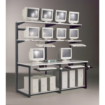"Mayline Group e-LAN Computer Racking Systems 72"" W LAN Station"