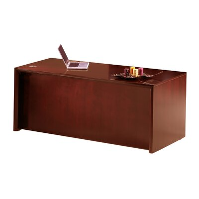 Mayline Group Corsica Single Pedestal Executive Desk with Straight Front