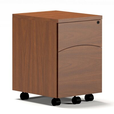 Mayline Group Brighton Mobile 2-Drawer Pedestal File