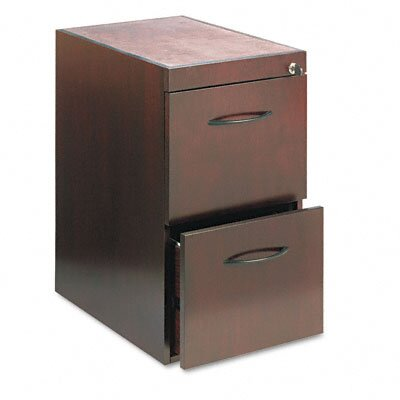 Mayline Group File/File Pedestal For Desk, 15W x 24D x 27H, Mahogany