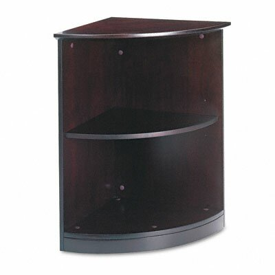 Mayline Group Wood Veneer Quarter Round 2-Shelf Bookcase