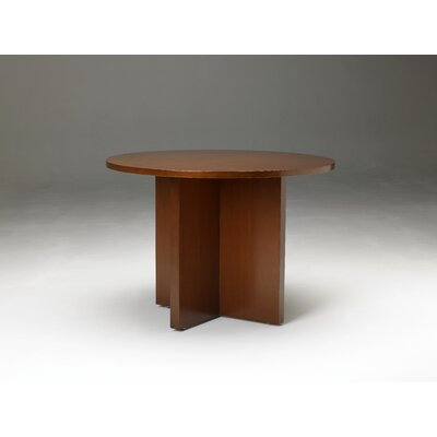 Mayline Group Stella Round Conference Table in Toffee