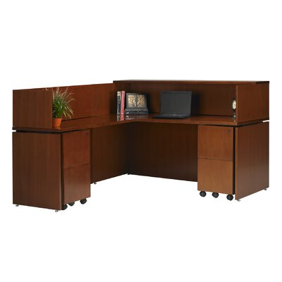 Mayline Group Stella Reception Station with Return and Pedestals