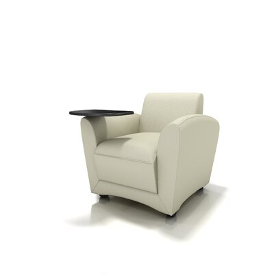Mayline Group Santa Cruz Leather Mobile Lounge Chair with Tablet