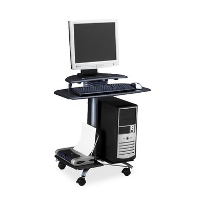 "Mayline Group Computer Workstation, Mobile, 28-1/2""x26""x29-1/2"", Charcoal Black"