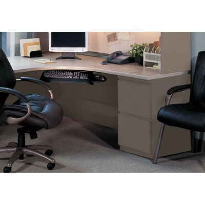 "Mayline Group CSII 72"" J-Table with Left-Hand Return"