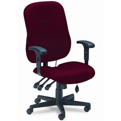 Mayline Group Comfort Series Mid-Back Executive Posture Swivel / Tilt Office Chair with Arms