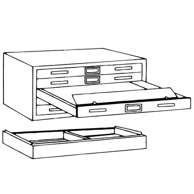 Mayline Group C-Files: Five Drawer Flat File (Museum Quality)