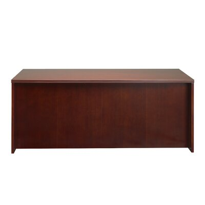Mayline Group Luminary Series Credenza Desk with Straight Front