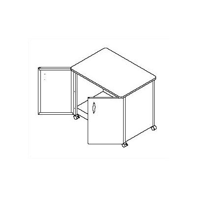 """Mayline Group 30"""" Mobile Utility Cabinet"""