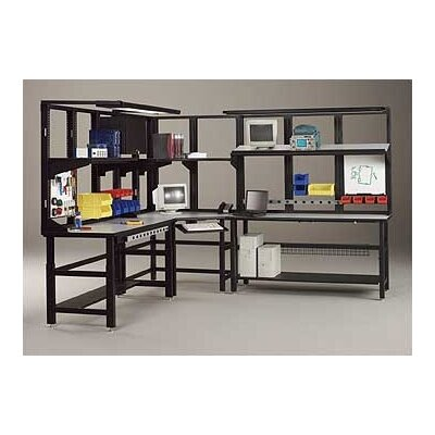 "Mayline Group Techworks Network Enclosures and Racks: 60"" x 36"" Adjustable Table with Worksurface"