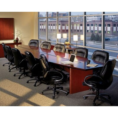 Mayline 10' Corsica Boat-Shaped Conference Table