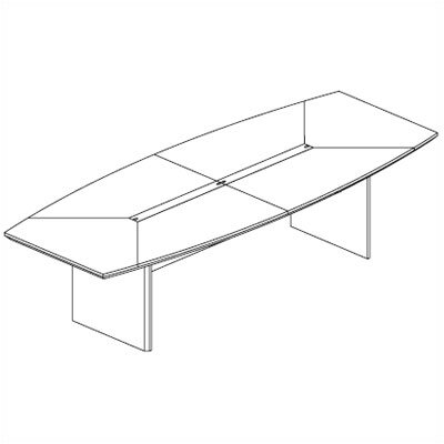 Mayline Group 12' Corsica Boat-Shaped Conference Table