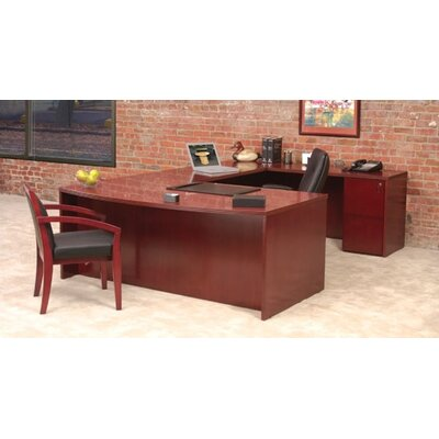 "Mayline Group Luminary 72"" Desk Shell with Bow Front"