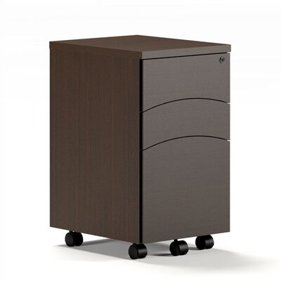 Mayline Group Brighton Mobile 3-Drawer Pedestal File