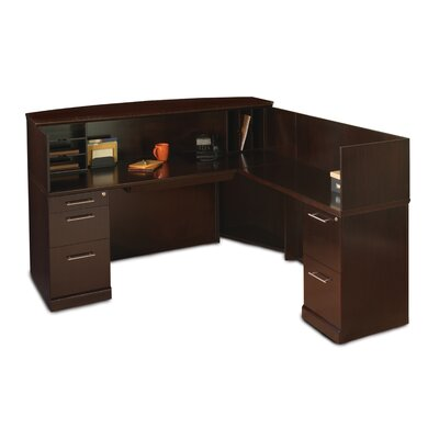 Mayline Group Sorrento L-Shaped Reception Desk with Counter