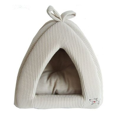 Best Pet Supplies Pet Tent Bed in Beige Corduroy