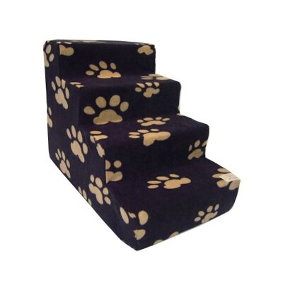 Best Pet Supplies Pet Stairs in Black Fleece