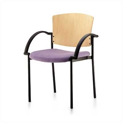 Source Seating Convex Staxx Stacking Chair (Upholstered Seat with Wood Back)