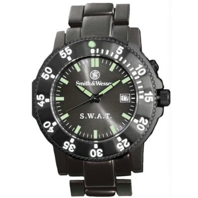 Smith & Wesson S.W.A.T. Men's Round Face Link Watch