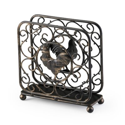 Upright Napkin Holder in Antique Bronze