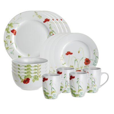 Signature Poppy Valley 16 Piece Dinnerware Set