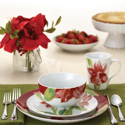 Signature Amaryllis 16 Piece Dinnerware Set