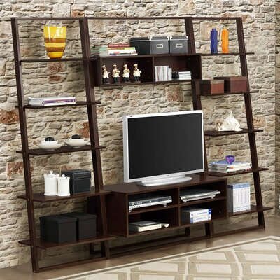 Arlington bookcase with entertainment center wayfair for Media center with bookshelves