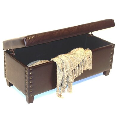 4D Concepts Wood Entryway Storage Ottoman