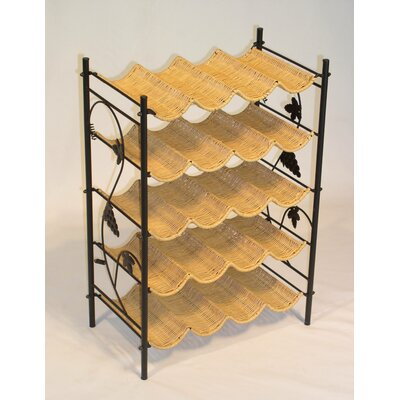 4D Concepts Wicker 20 Bottle Wine Rack