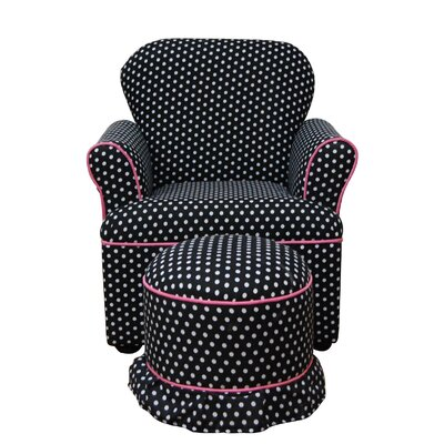4D Concepts Kid's Chair and Ottoman Set