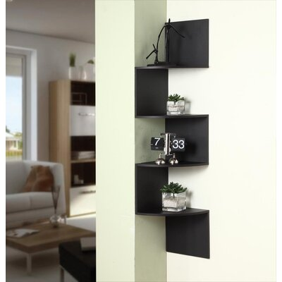 4D Concepts Hanging Corner Storage In Black