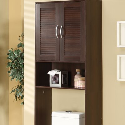 Double Door Louver Spacesaver Cabinet in Espresso