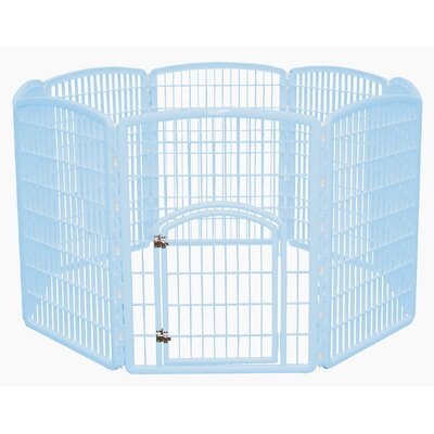 "Iris 34.25"" 8 Panel Indoor/Outdoor Dog Pen"
