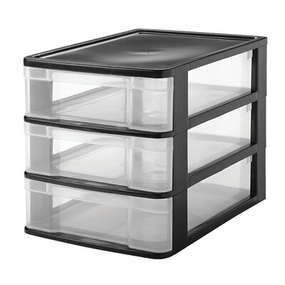 3 drawer front load desktop organizer wayfair. Black Bedroom Furniture Sets. Home Design Ideas