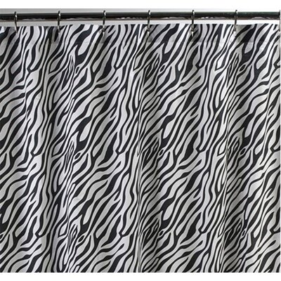 Sin In Linen Dreamy Linens Cotton Zebra Shower Curtain