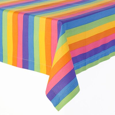 Sin In Linen Colorful Rainbow Print Tablecloth