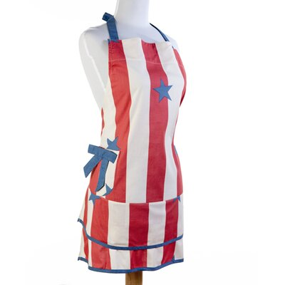 Sin In Linen Stars and Stripes Apron