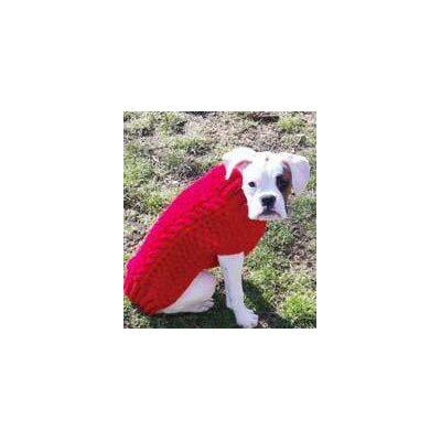 Chilly Dog Red Cable Dog Sweater