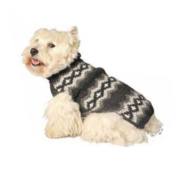 Chilly Dog Grey Diamonds Dog Sweater