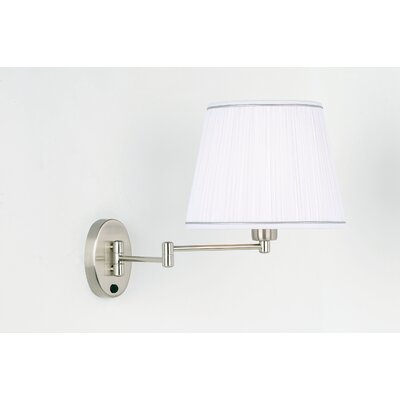 Endon Lighting Swing Arm Wall Lamp in Satin Chrome