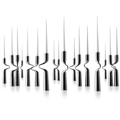Menu Mikaela Dorfel Stainless Steel Double Candlesticks