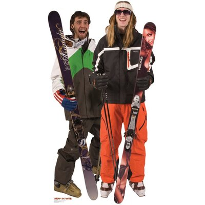 Advanced Graphics Jonny & Lou 2 - Cheap Ski Movie Cardboard Stand-Up