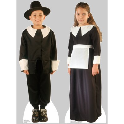Advanced Graphics Pilgrim Boy and Pilgrim Girl Set Cardboard Stand-Up