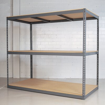"Republic Rivet Wedge-Lock Bulk 84"" H 2 Shelf Shelving Unit Starter"